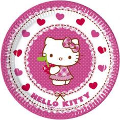 Farfurii pisicuta Hello Kitty Hearts 20cm set 8 buc