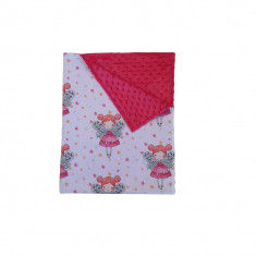 Ingrid's Fabrics Paturica bebelusi Minky - Zane - Fucsia 75x95cm