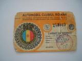 Carnet de membru Automobil Clubul Roman, 1986-1990