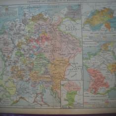 HOPCT DOCUMENT-HARTA VECHE NR 37 GERMANIA/ITALIA NORD D=320/250 MM LEIPZIG 1918