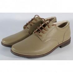 Pantofi kaki de barbati/barbatesti din piele naturala (cod SPB01)