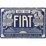 Placa metalica Fiat - Since 1899 Logo Blue 20x30 cm