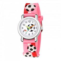 Ceas pentru copii, model minge - fotbal, culoare multicolor, model 4RAR