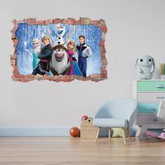 Sticker 3D perete, 60x90cm, Frozen