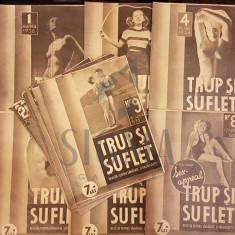 VATAMANU N., TRUP SI SUFLET (Revista Pentru Sanatate si Frumusete), 1936, Bucuresti (26 Numere !!!)