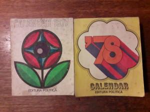 Lot 2 calendare vintage de perete , anul 1977 si 1978 / R2P3F