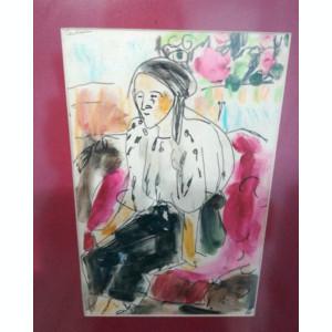 Lucare realizată de artista consacrată Eva Cerbu în tehnica mixtă