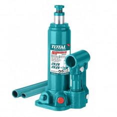 Cric hidraulic auto Total Industrial, 2 tone, supapa siguranta, tip butelie