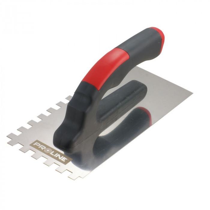 Gletiera inox dintata Proline, 270 x 130/4 mm, maner plastic
