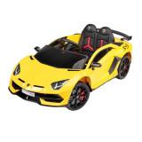 Masina electrica cu telecomanda pentru copii Toyz Lamborghini Aventador SVJ HL328, Galben