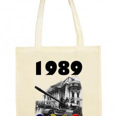SACOSA BUMBAC PERSONALIZATA REVOLUTIE 1989- 30 ANI