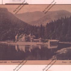 CARTE POSTALA*TUSNAD*PLAJA-STRANDUL 1933, Circulata, Printata