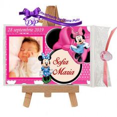 Marturii botez magneti Handmade by Diana Puiu Minnie Mouse MDFM 5