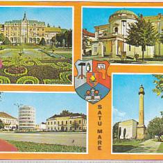 bnk cp Satu Mare - Vedere - circulata - marca fixa