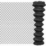 Gard plasă de sârmă, gri, 25 x 1,5 m, oțel, vidaXL