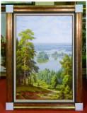 Tablou pictat manual pe panza in ulei Peisaj Natura Vara A-105, Realism
