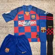 Echipament fotbal Fc Barcelona Messi copii 5-13 ani, XS/S, YL, YM, YS, YXL, YXXL, Din imagine, Unisex