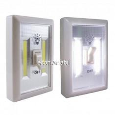 Lanterna 2x 1W COB LED tip Intrerupator Fara Fir pe Baterii SXA01
