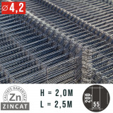 Cumpara ieftin Panou gard bordurat zincat, 2000X2500 mm, diametru 4.2 mm