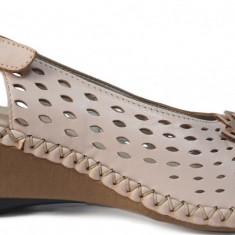 Sandale dama cu talpa ortopedica Rieker 66177 rose