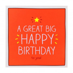 Felicitare - A Great Big Happy Birthday | Pigment Productions