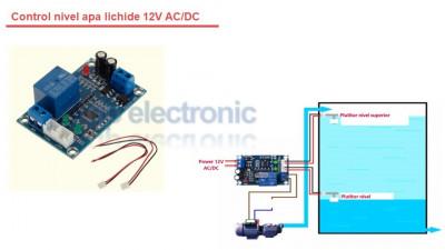 Control nivel apa lichide 12V foto