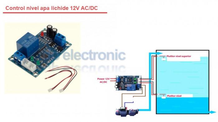 Control nivel apa lichide 12V