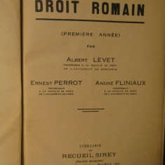 DROIT ROMAIN-ALBERT LEVET