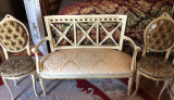 Salon/salonas/canapea+scaune vintage/antic/rococo/baroc venetian/Louis, Sufragerii si mobilier salon, Dupa 1950