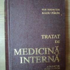 TRATAT DE MEDICINA INTERNA , APARATUL RESPIRATOR VOL. I sub redactia lui RADU PAUN , Bucuresti 1983