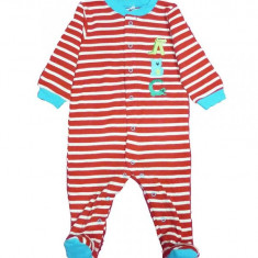 Salopeta / Pijama bebe cu dungi Z60, 1-2 ani, 1-3 luni, 3-6 luni, 6-9 luni, 9-12 luni, Din imagine