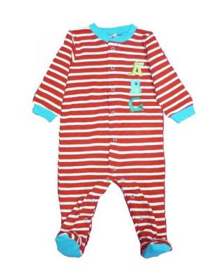 Salopeta / Pijama bebe cu dungi Z60 foto