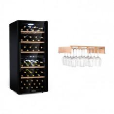 Klarstein Barossa 102 Duo, set de frigider de vin, 2 zone, 102 fl. raft de sticlă pentru vin