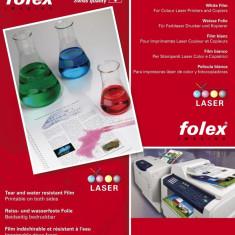 Folie de poliester A4 alba lucioasa printabila fata-verso pentru imprimante laser