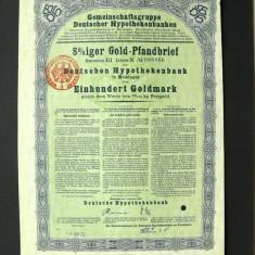 Titlu De Stat Obligatiune Germania-1924-100-Goldmark