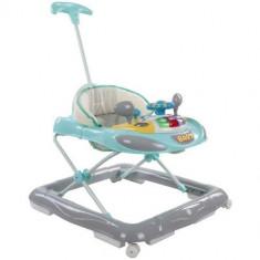 Premergator cu Control Parental Super Car Turcoaz cu Gri, Sun Baby