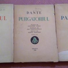 Divina Comedie 3 Volume. Traducere de Al. Marcu. Craiova, 1943 - Dante
