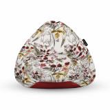 Cumpara ieftin Fotoliu Units Puf (Bean Bag) tip para, impermeabil, cu maner, 80 x 90 x 68 cm, flori si fluturi