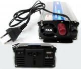 Invertor de tensiune, 12V - 220V AC, 600W, cu incarcare baterie - 201078