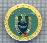 AX 138 INSIGNA VANATOARE SI PESCUIT SPORTIV PERIOADA RSR -A.G.V.P.S -1948-1988