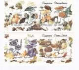 Ciuperci Comestibile si Otravitoare 1994 LP1349/1349a, Natura, Nestampilat