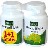 Benefe Ginkgo Biloba 100mg 60cpr Pachet 1+1 Gratis