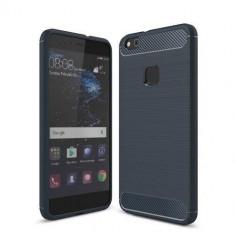Husa Iberry Carbon Albastru Inchis Pentru Huawei P9 Lite 2016, Silicon, Carcasa