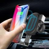 Suport Auto cu Incarcare Wireless Qi iPhone X 8 Plus 8 Samsung Galaxy S9 Plus S9 Universal, iPhone 7/8 Plus