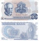 NORVEGIA 10 kroner 1984 AUNC!!!