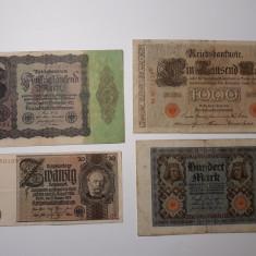 BANCNOTE GERMANIA -50MARCI 1924 -100MARCI 1920 -1000MARCI 1910 -50000 MARCI 1922