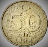Moneda 50 BIN LIRA - TURCIA, anul 1999 *cod 639 A