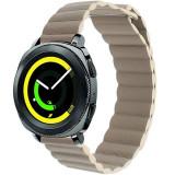 Cumpara ieftin Curea piele Smartwatch Samsung Gear S3, iUni 22 mm Kaki Leather Loop