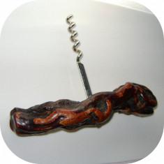 Tirbuson cu maner din lemn_artizanat