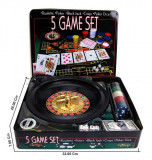 Cumpara ieftin Joc 5 in 1 Ruleta, Poker, Black Jack, Craps, Poker Dice